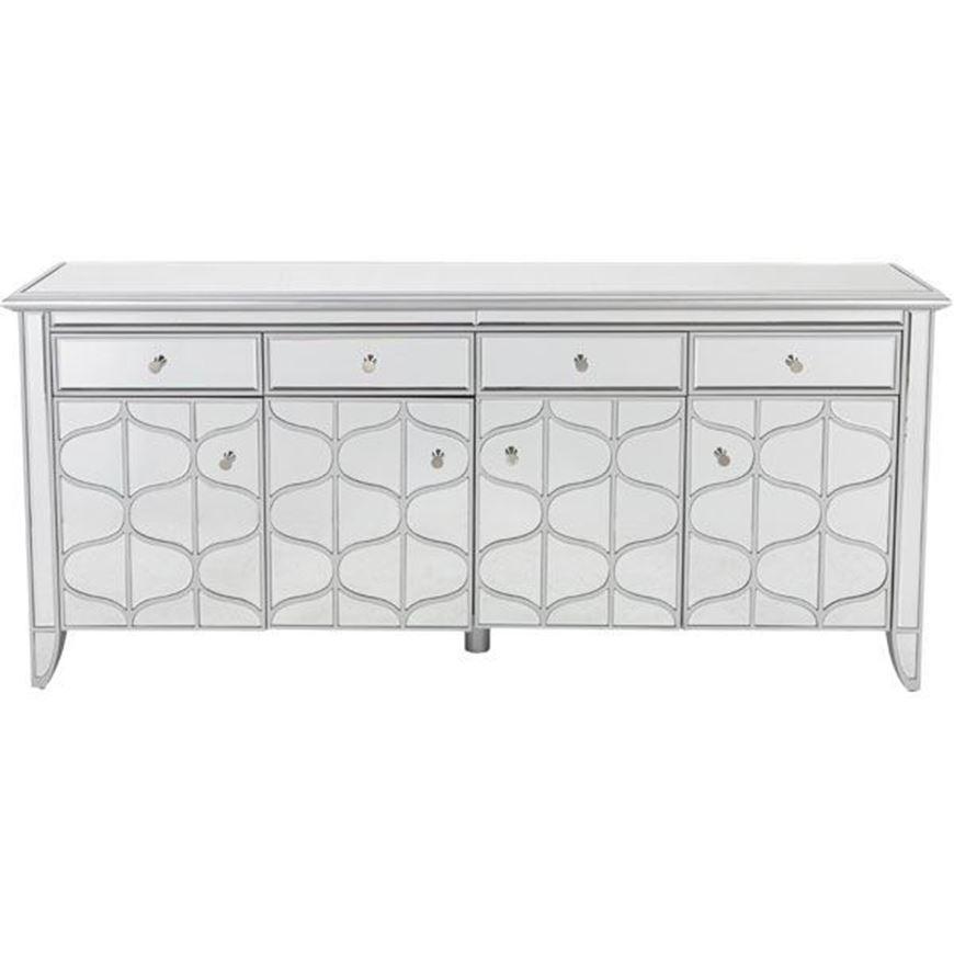 MIAKI sideboard 80x180 clear/silver