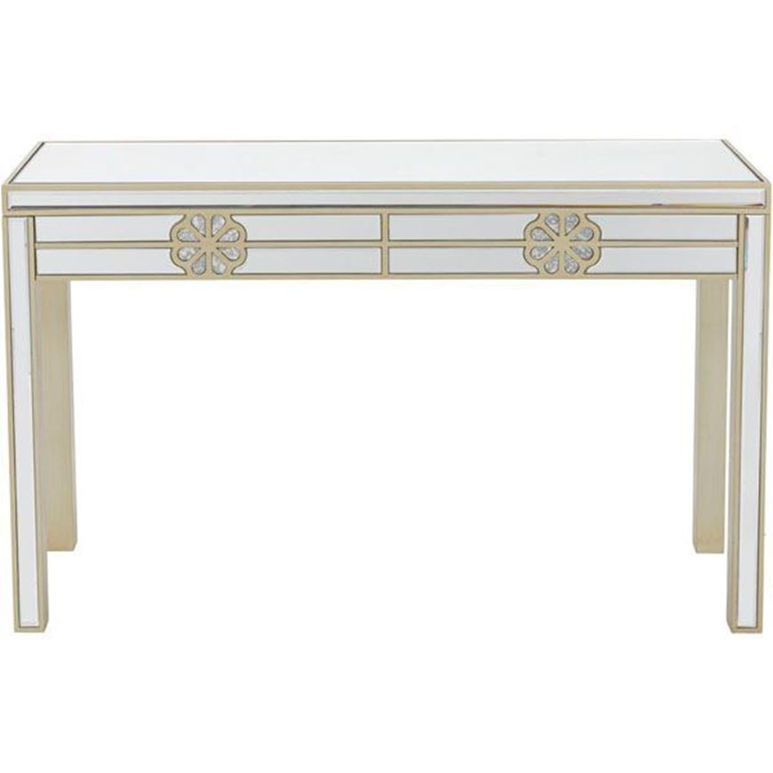 SALMI console 120x40 clear/gold