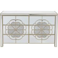 SALMI chest 6 drawers clear/gold