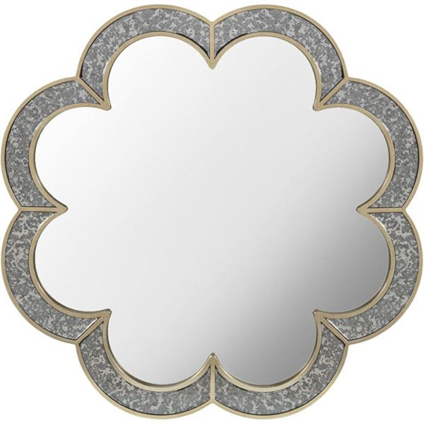 Picture of SALMI mirror d90cm clear/gold