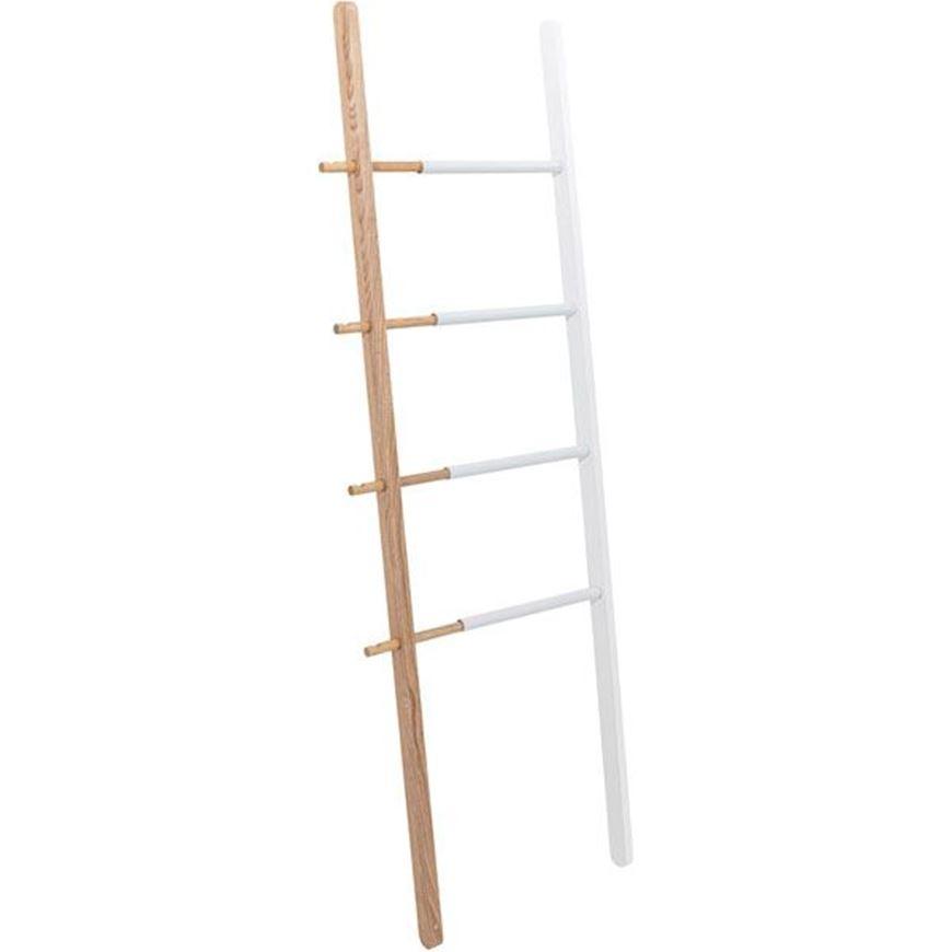 HUB ladder h152cm white/natural