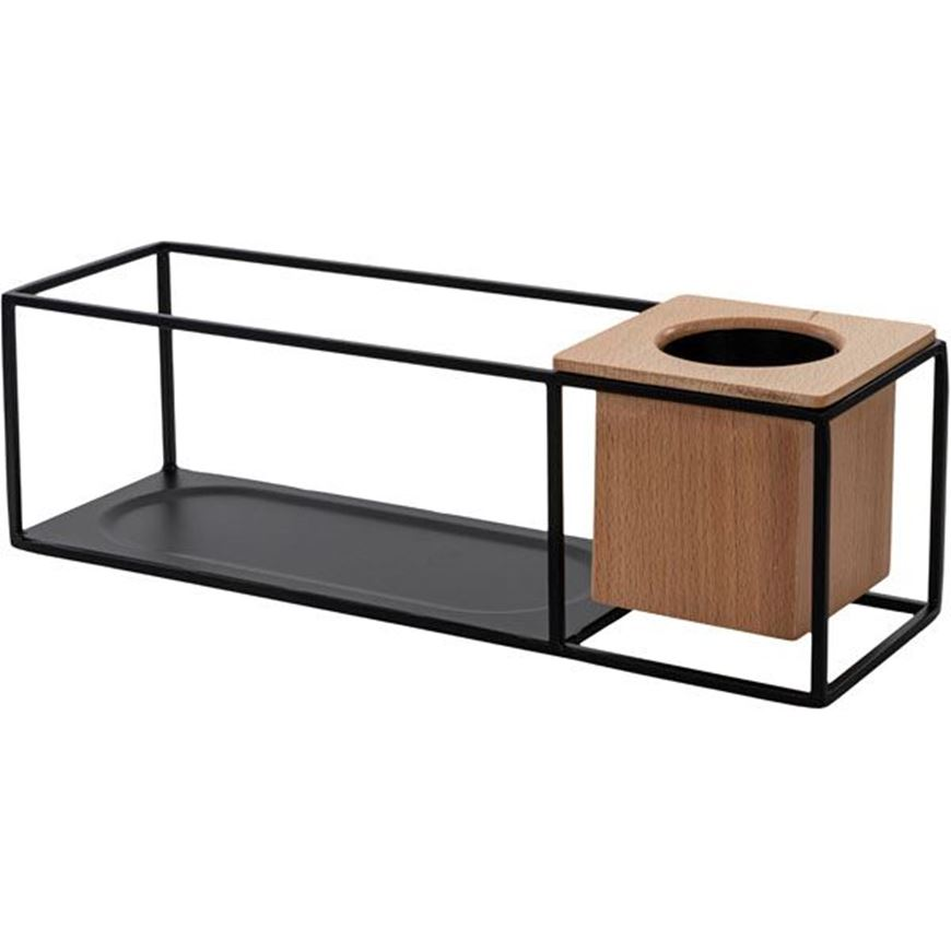 Picture of CUBIST display shelf 38x12 natural/black