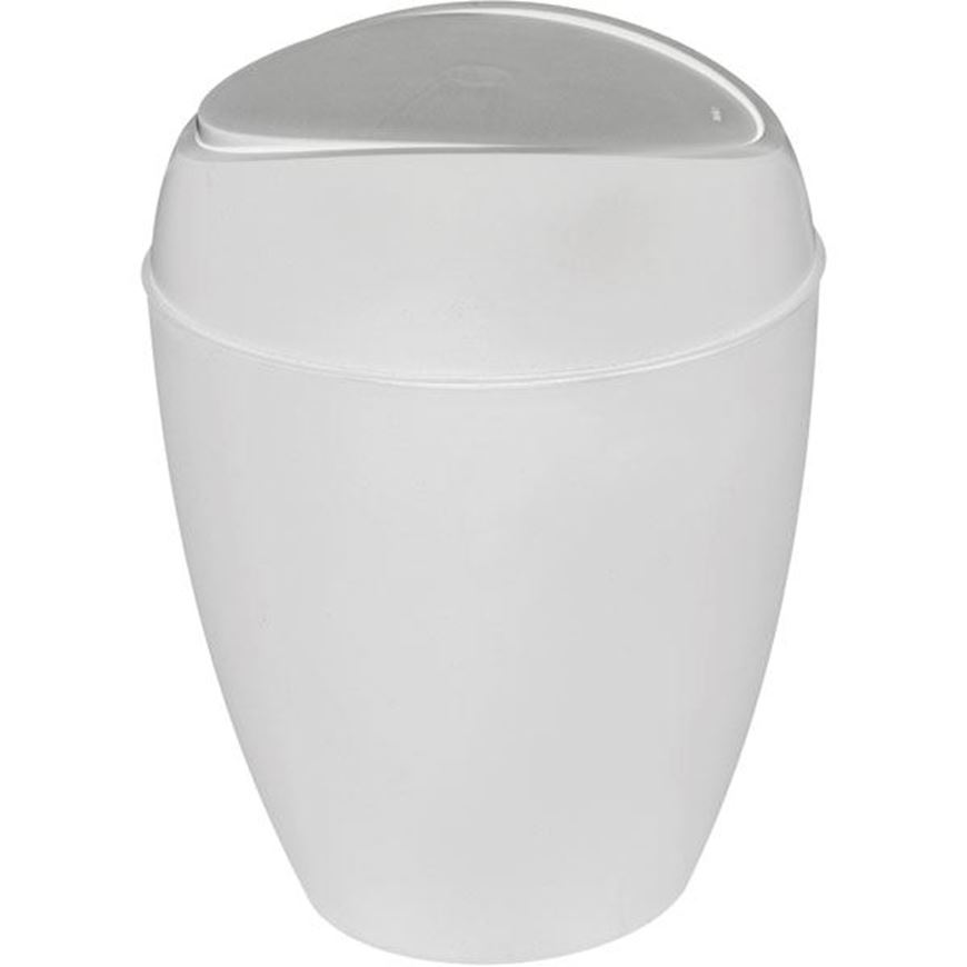 Picture of TWIRLA waste can with lid metal white