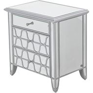 MIAKI bedside table clear/silver