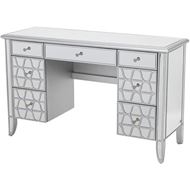 MIAKI dressing table 130x45 clear/silver