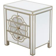 SALMI bedside table clear/gold