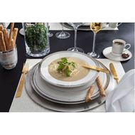 RUBEEN dinner plate d27cm set of 4 white/silver