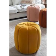 BERRY stool d47cm microfibre yellow