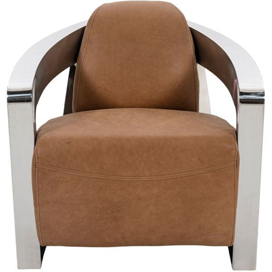 TYSON armchair leather brown
