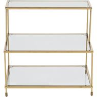 KIT bedside table clear/gold