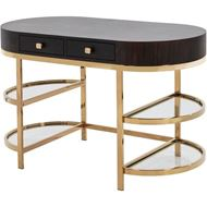 PAULO dressing table 120x60 brown/gold