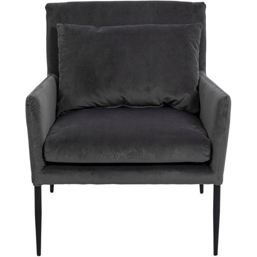 DUTAR armchair dark grey