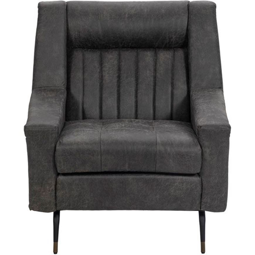 ROMEO armchair recycle leather black