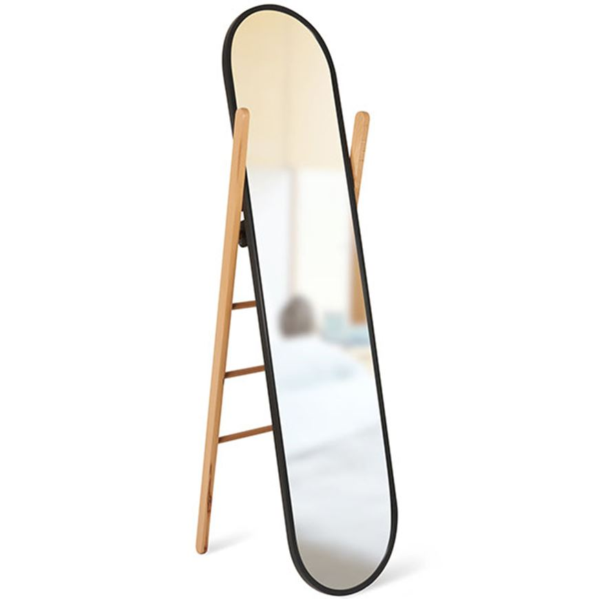 Picture of HUB floor mirror 158x43 black/natural