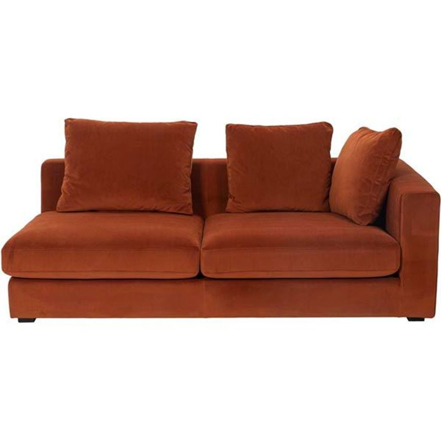 READ sofa 2.5 with Right arm microfibre rust