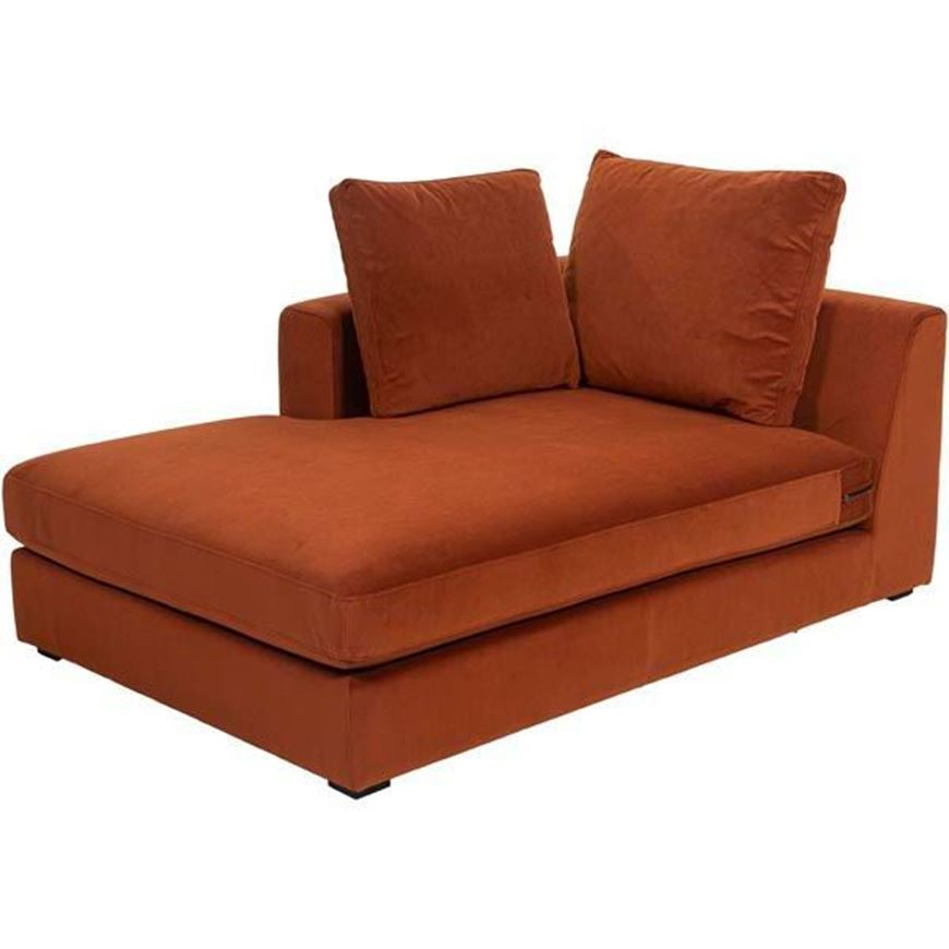 READ chaise lounge Left microfibre rust