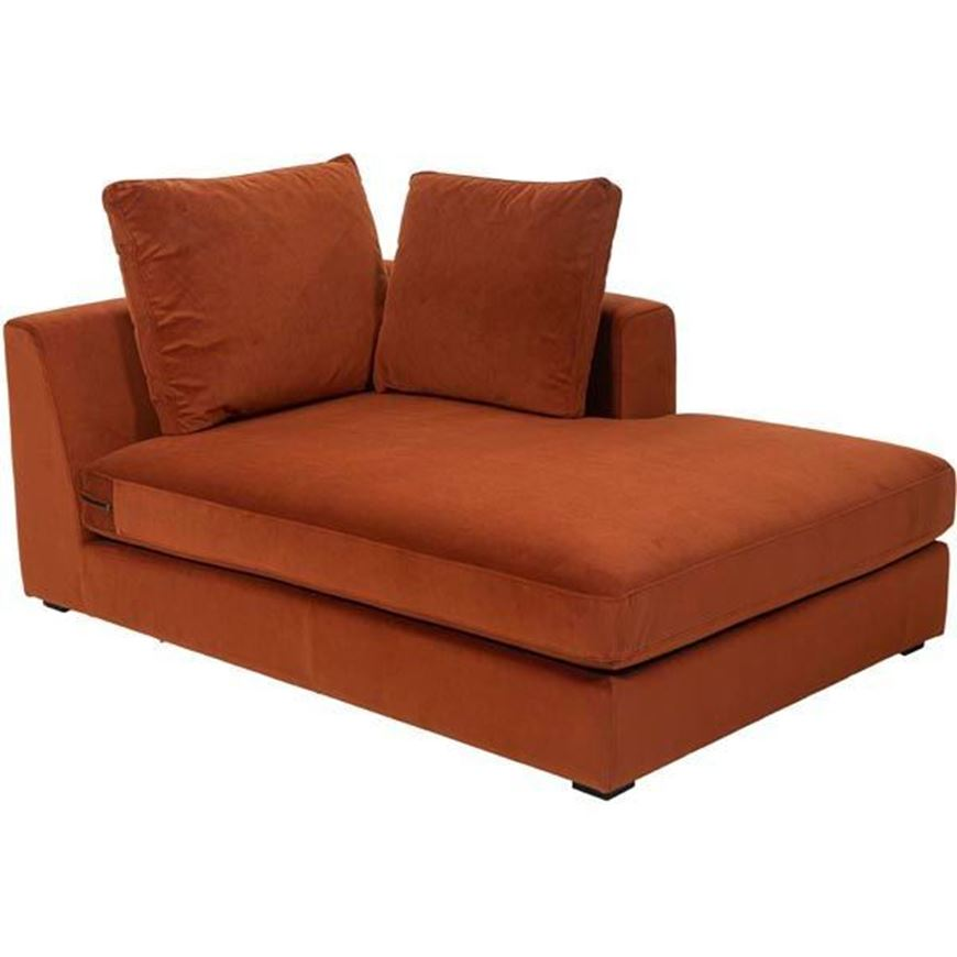 READ chaise lounge Right microfibre rust