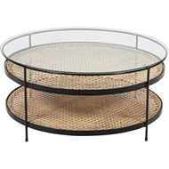RATTAN coffee table d90cm natural