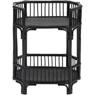 RATTAN bedside table black