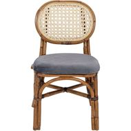 RATTAN dining chair black/natural