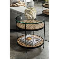 RATTAN side table d50cm natural