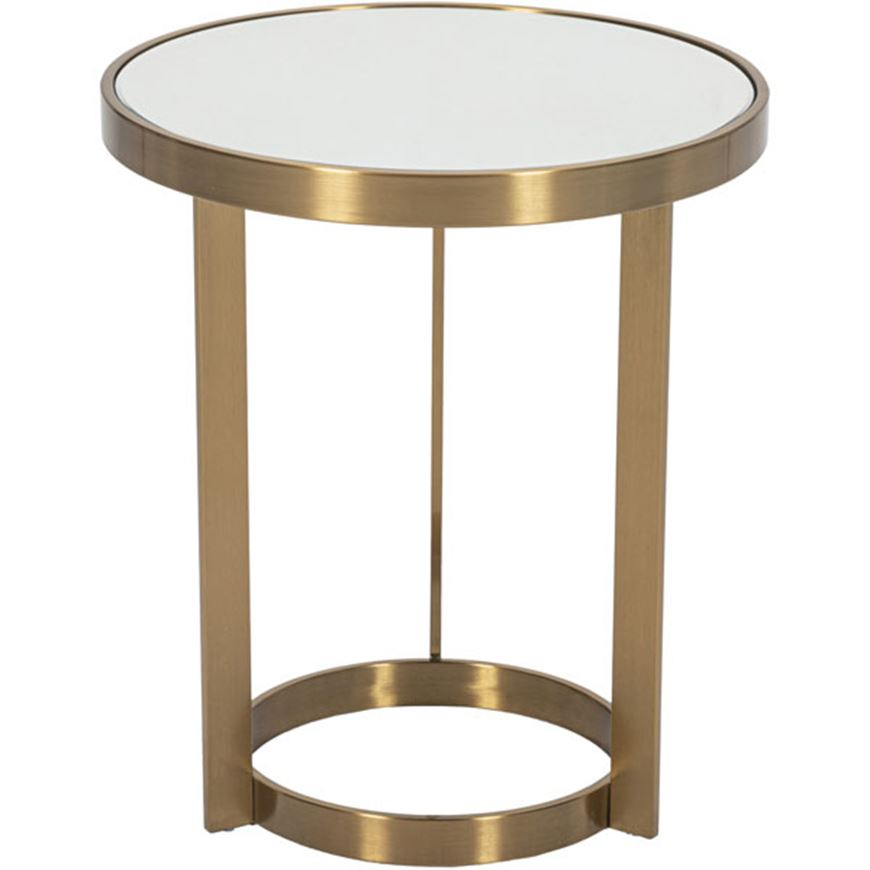 Picture of RUSH side table d51cm clear/gold