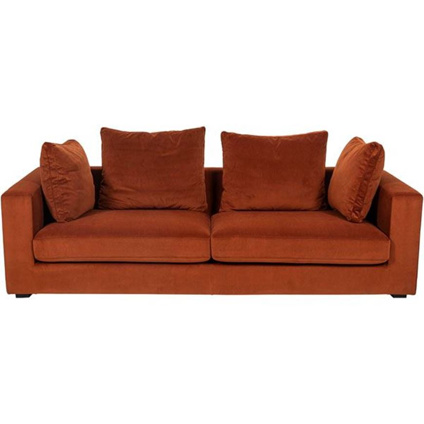 READ sofa 3.5 microfibre rust