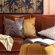 VIOLA cushion cover 45x45 yellow