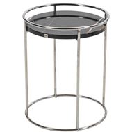 GOAD side table d40cm black/stainless steel
