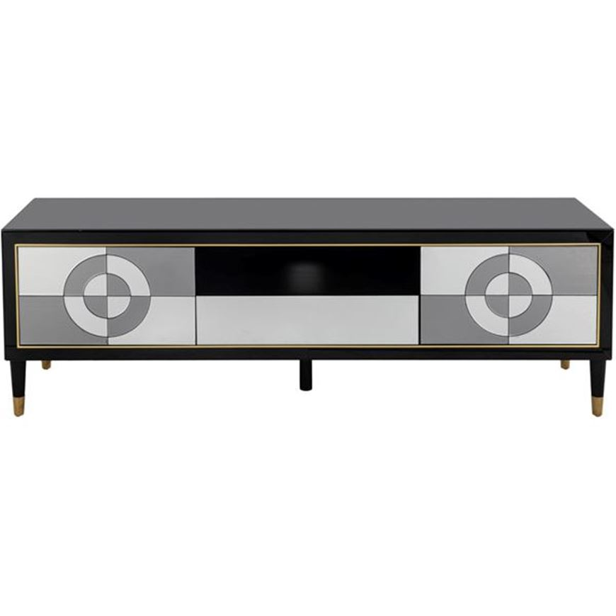 MOOD entertainment unit 59x180 clear/black