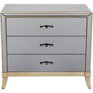 MARY chest 3 drawers grey/gold