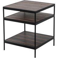 PACHA side table 50x50 brown/black