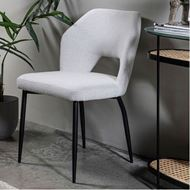 HOLD dining chair white/black