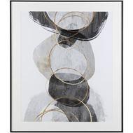 CONGLOMERATE II print 92x107 black