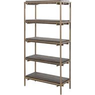 PAVS bookcase 162x81 grey/gold