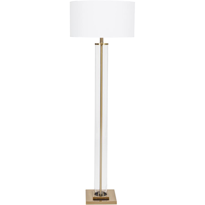Picture of POST floor lamp h179cm white/brass