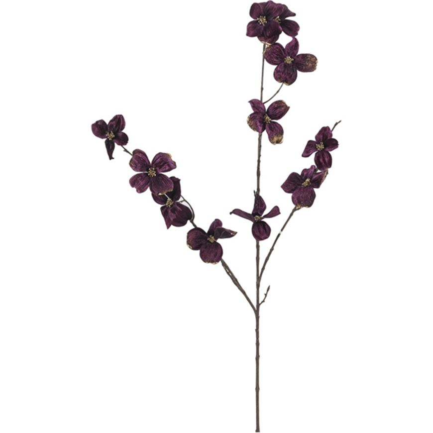 Picture of VELVET dogwood stem h99cm purple