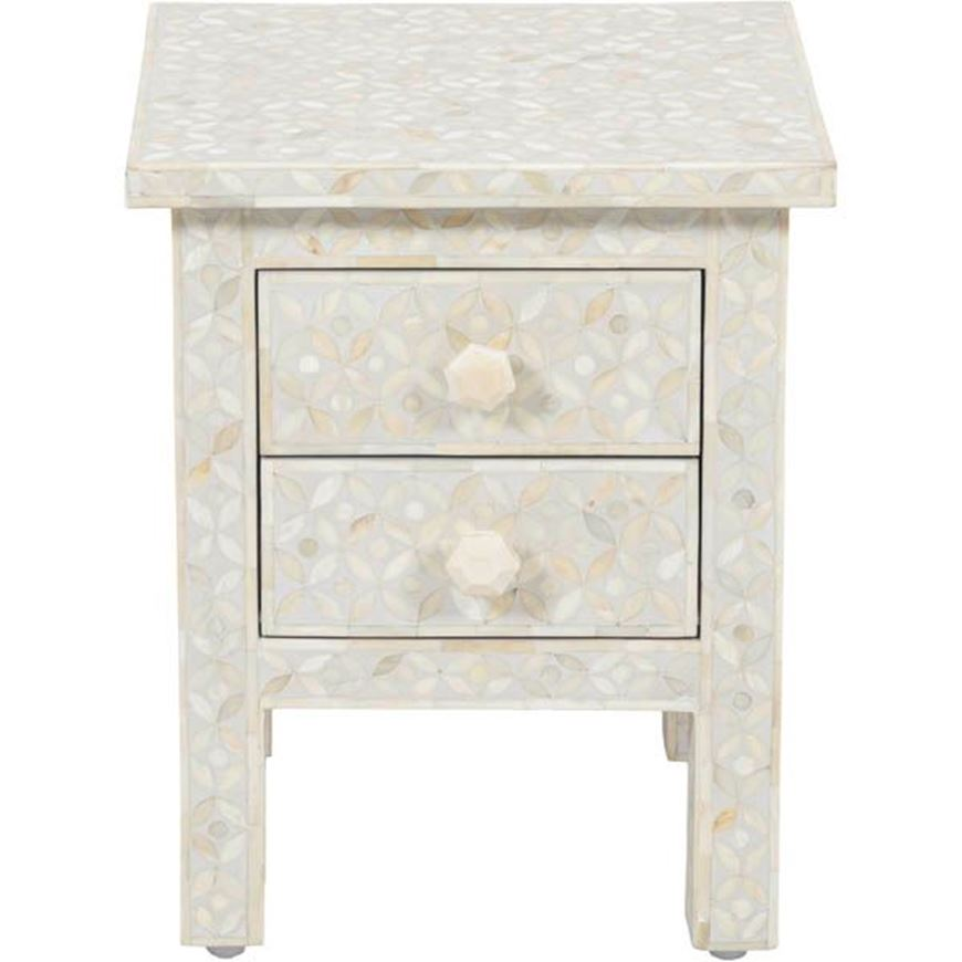 NOOR bedside table grey