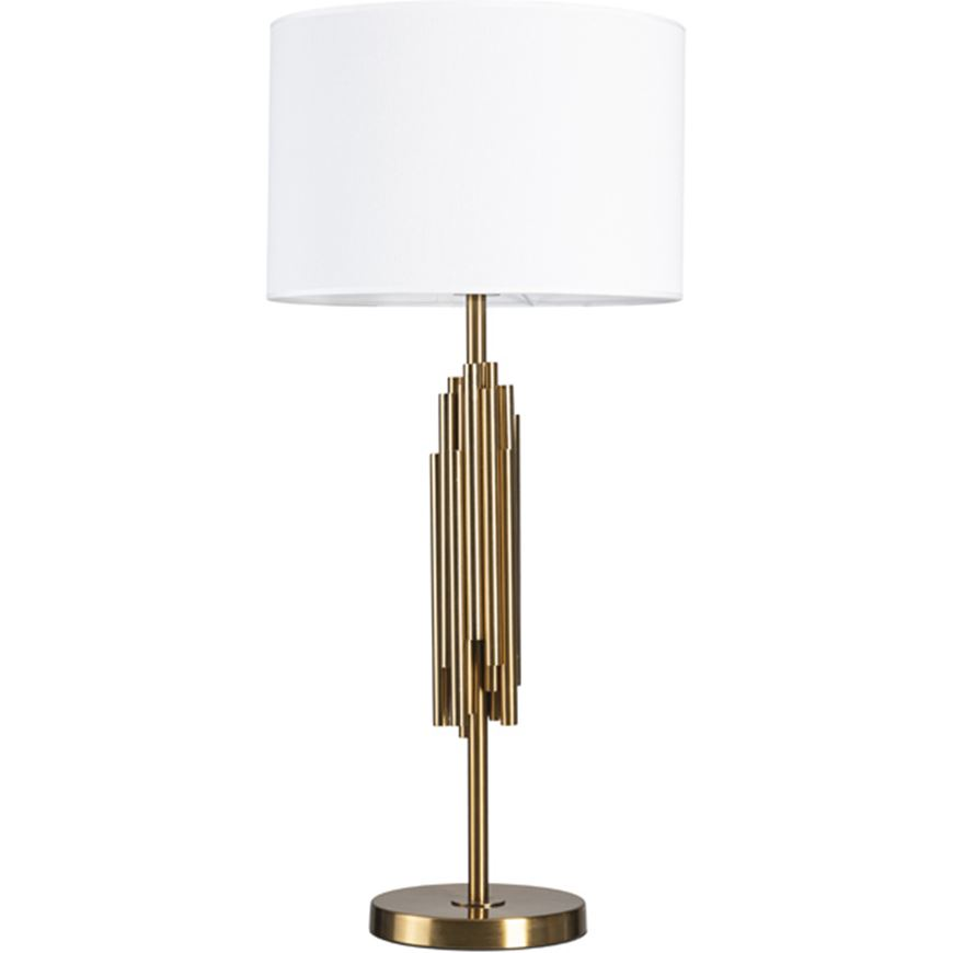 Picture of SPOOL table lamp h80cm white/brass