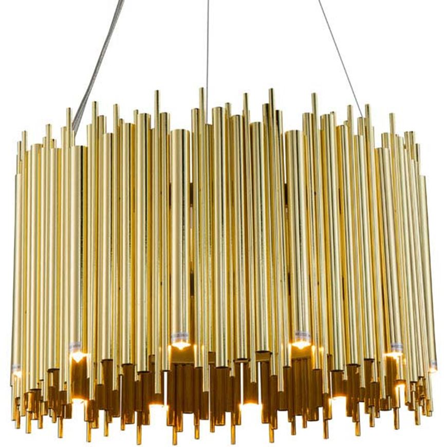 Picture of SPOOL 60 chandelier d60cm gold