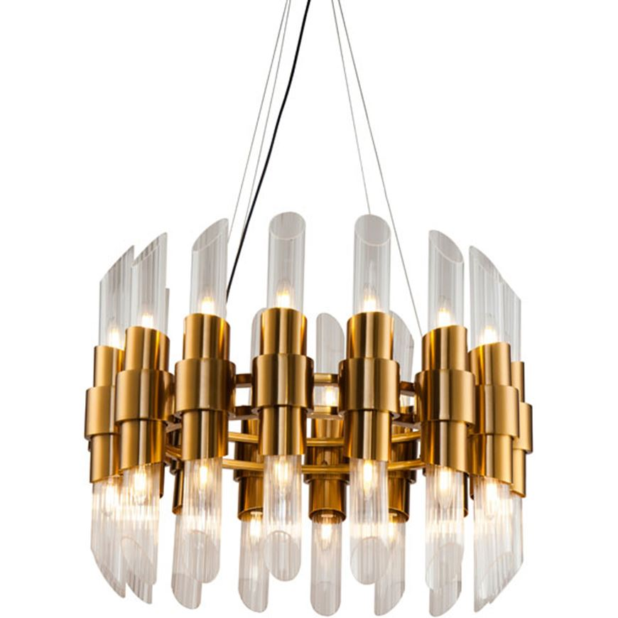 Picture of ALMA chandelier d80cm clear/brass