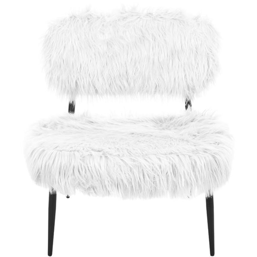 HAIRY armchair white