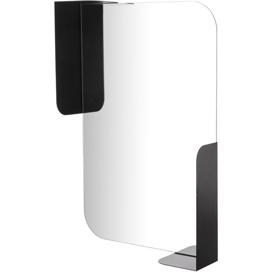 Picture of ALCOVE mirror with shelf  76x51 black