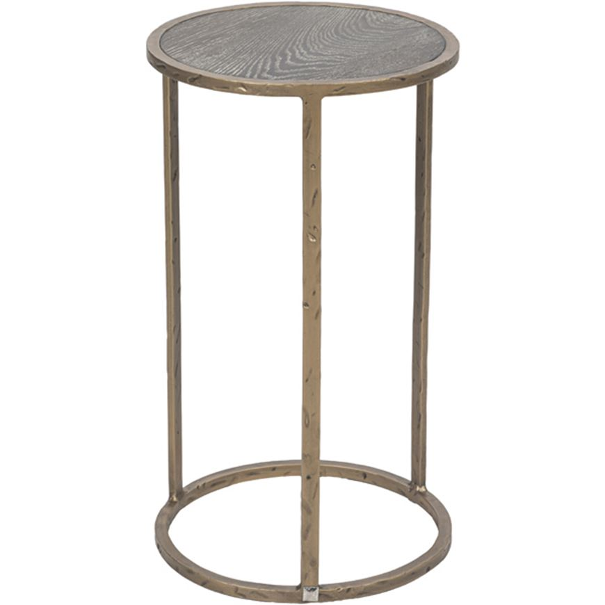 Picture of JAX side table d35cm brown/brass