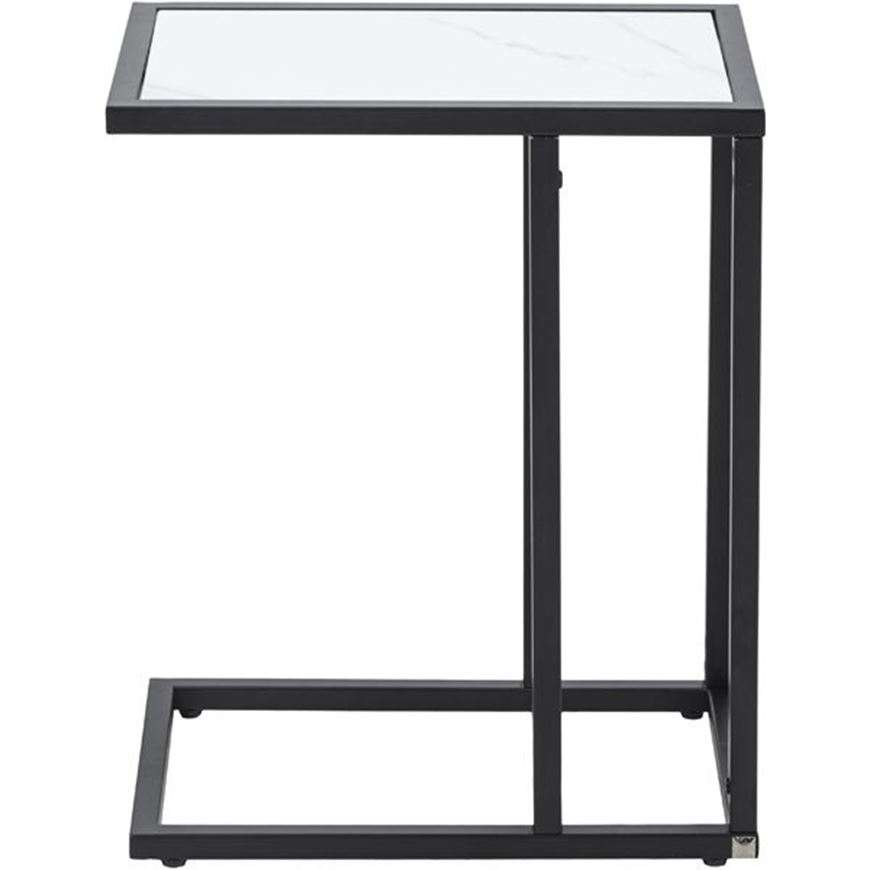 MILA cocktail table 45x30 white/black
