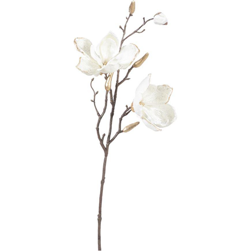 Picture of VELVET magnolia stem h61cm white