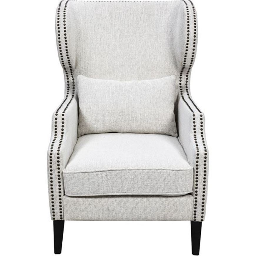 ZADIE wing chair white