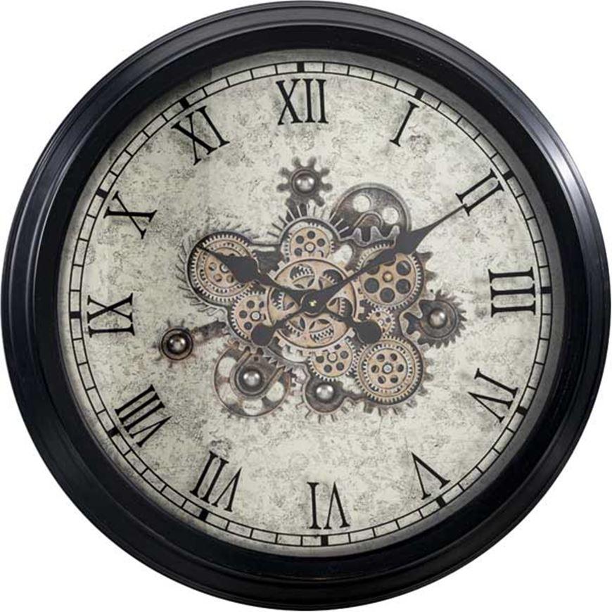 Picture of GEAR clock d71cm black