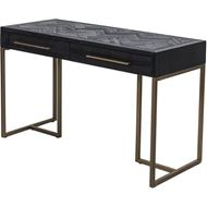 ALBY desk 122x51 black/gold