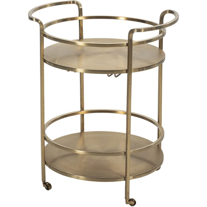 Picture of BRASTRO trolley d55cm brass